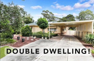 DOUBLE DWELLING - Whole House + Granny Flat for rent- Valley View 5039