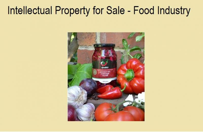 INTELLECTUAL PROPERTY FOR SALE - FOOD INDUSTRY