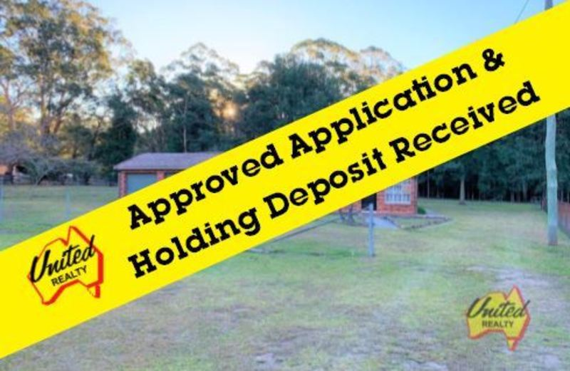 APPROVED APPLICATION & HOLDING DEPOSIT RECEIVED!