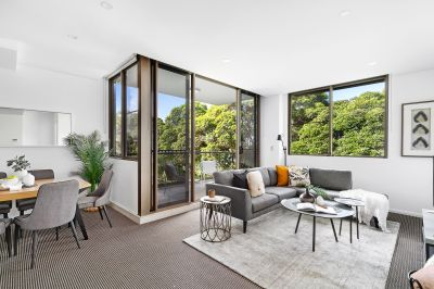Resort-inspired tranquility and a prized northeasterly corner position