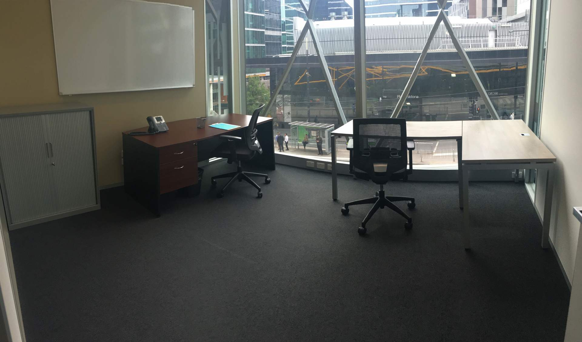 14 Square Metre Offices for people Melbourne Docklands –Transport Friendly– Prime Location – All Inclusive Cost