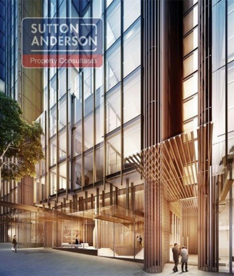 Open plan suite in modern building