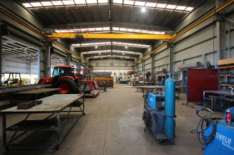 Tidy Industrial Workshop with the Works