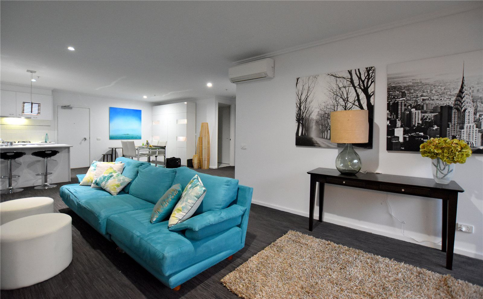 The Capri: Furnished Two Bedroom Apartment at Ground Floor - Renovated with Courtyard!