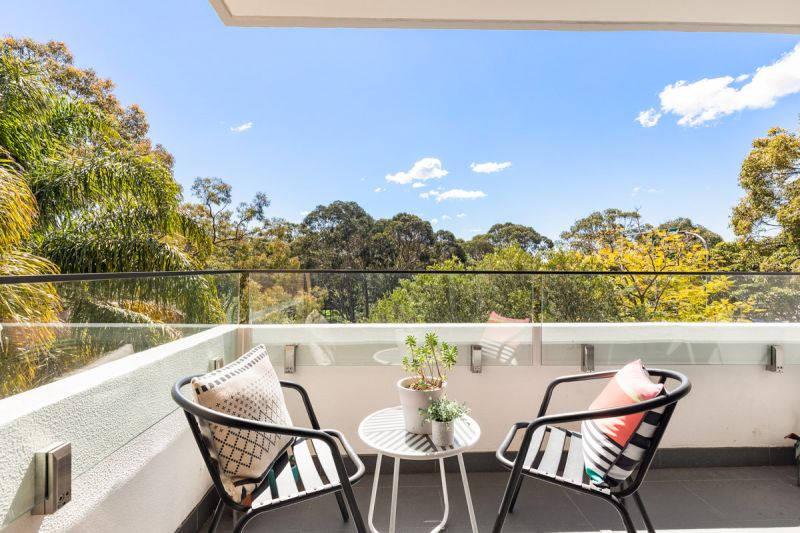 SOLD -Bathed in northern sun withgenerous balcony and lift access.
