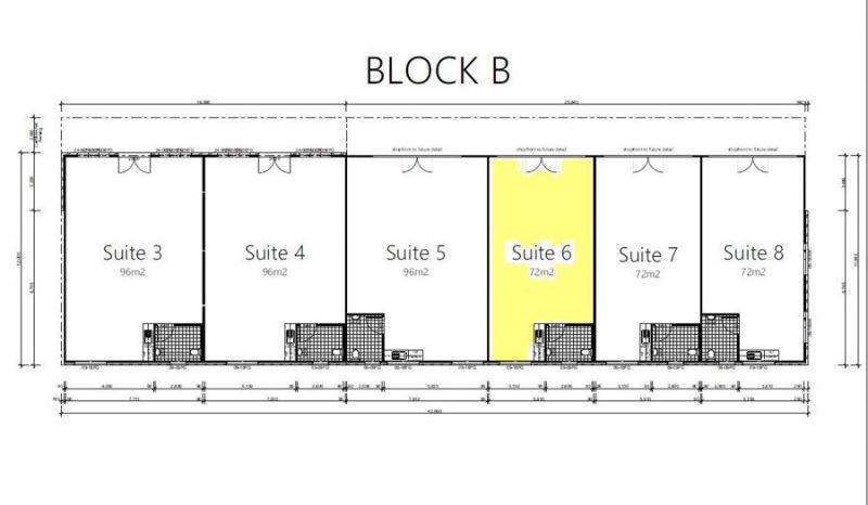BRAND NEW Approx 72sqm GFA suite available - first of its kind in the area
