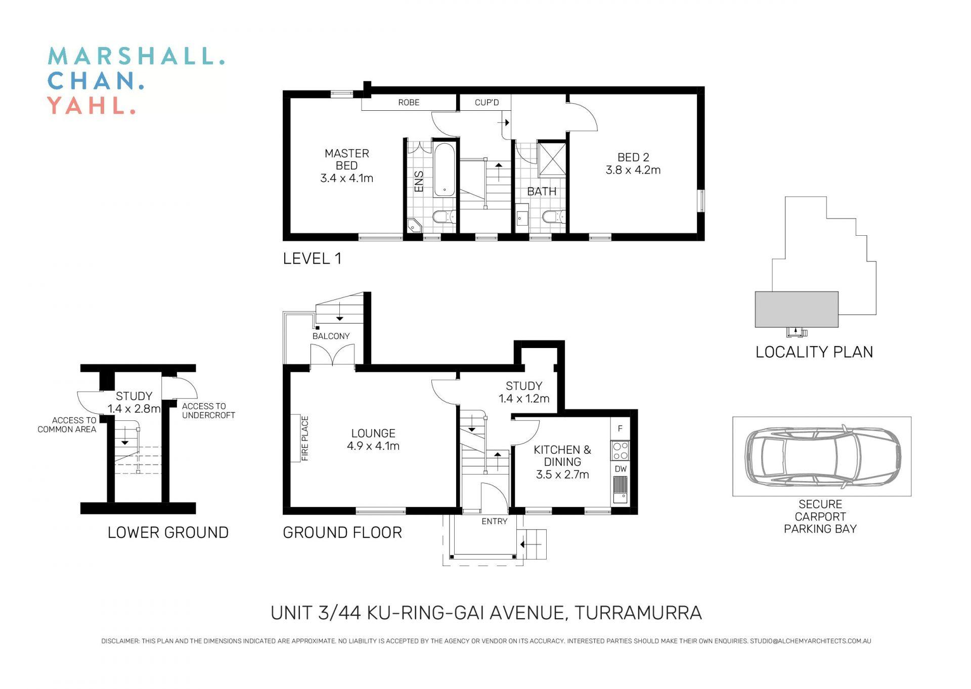 3/44 Ku-Ring-Gai Avenue Turramurra 2074