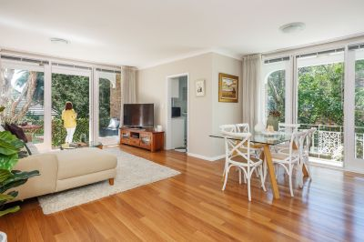 Ground floor north-facing apartment with a prime village-side lifestyle