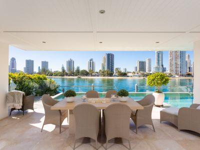 Prestige lifestyle home on prized northeast riverfront