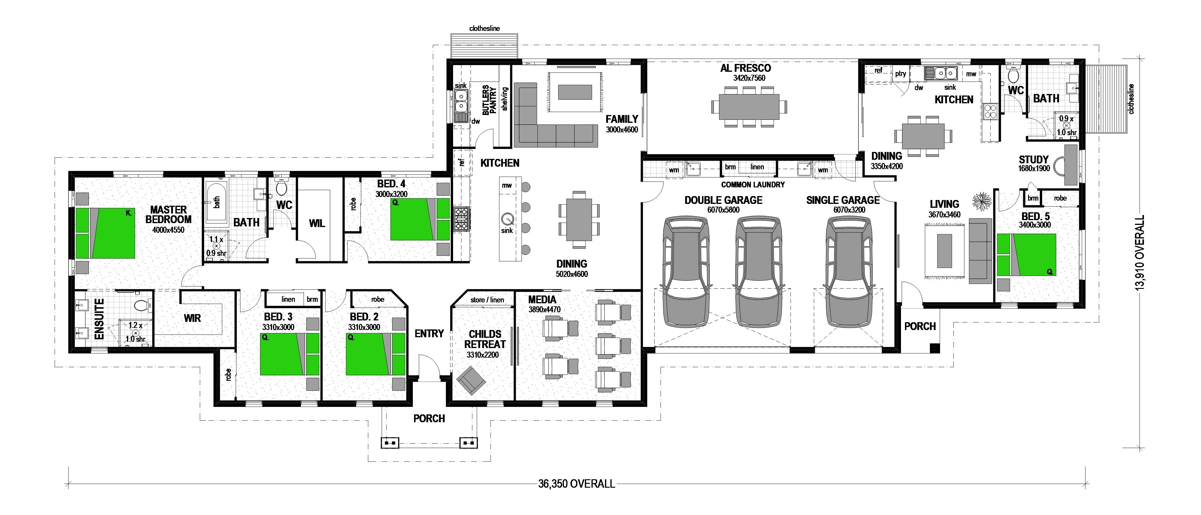 PIRONGIA Floorplan