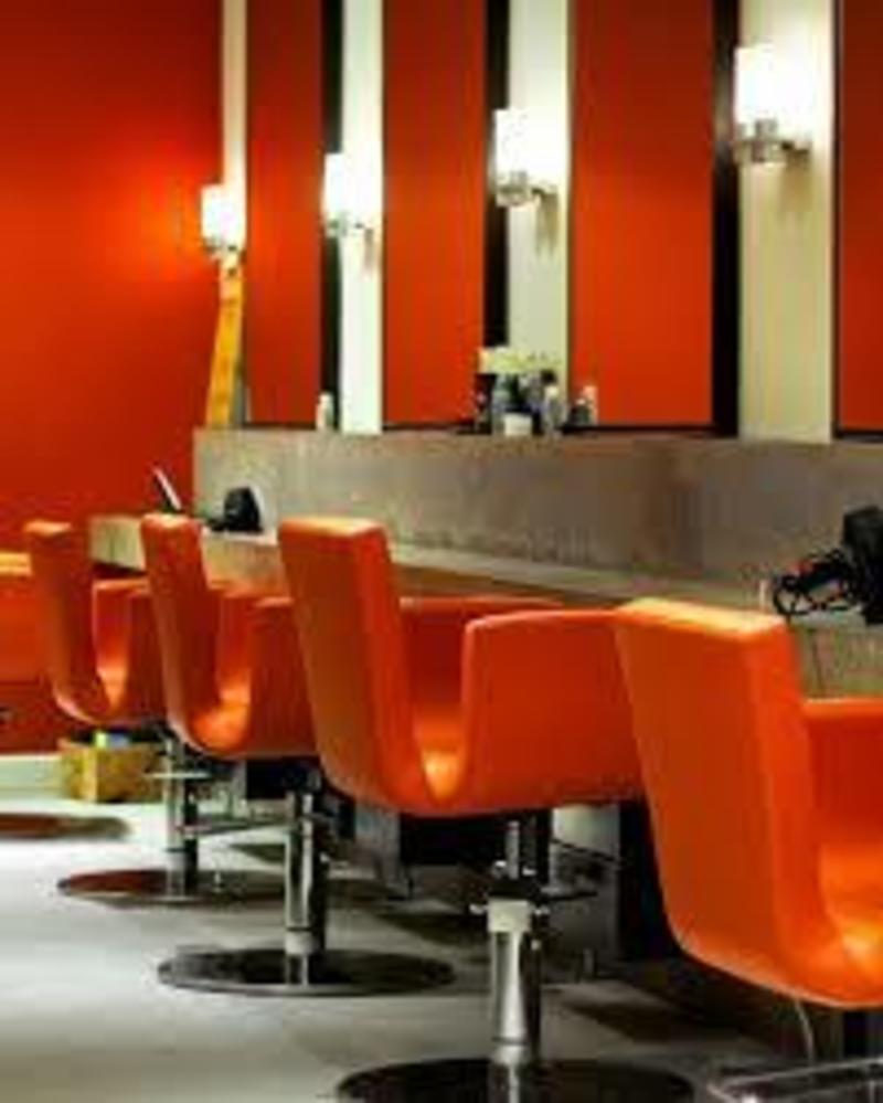 Busy Hair salon.