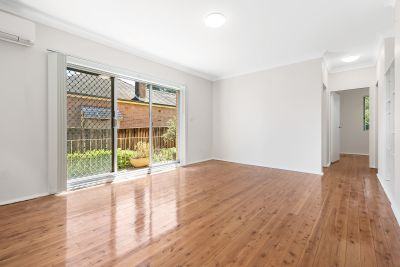 Quiet and convenient ground floor apartment with no common walls and moments to everything North Strathfield has to offer