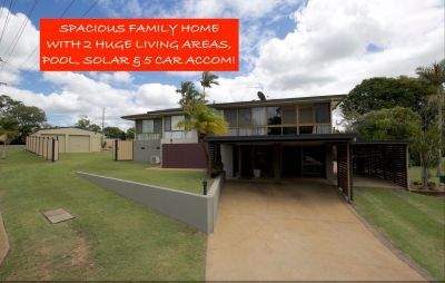 WHAT A BUY! SPLIT LEVEL BRICK, HUGE LIVING AREAS, 5 CAR ACCOMM WITH SOLAR & POOL!