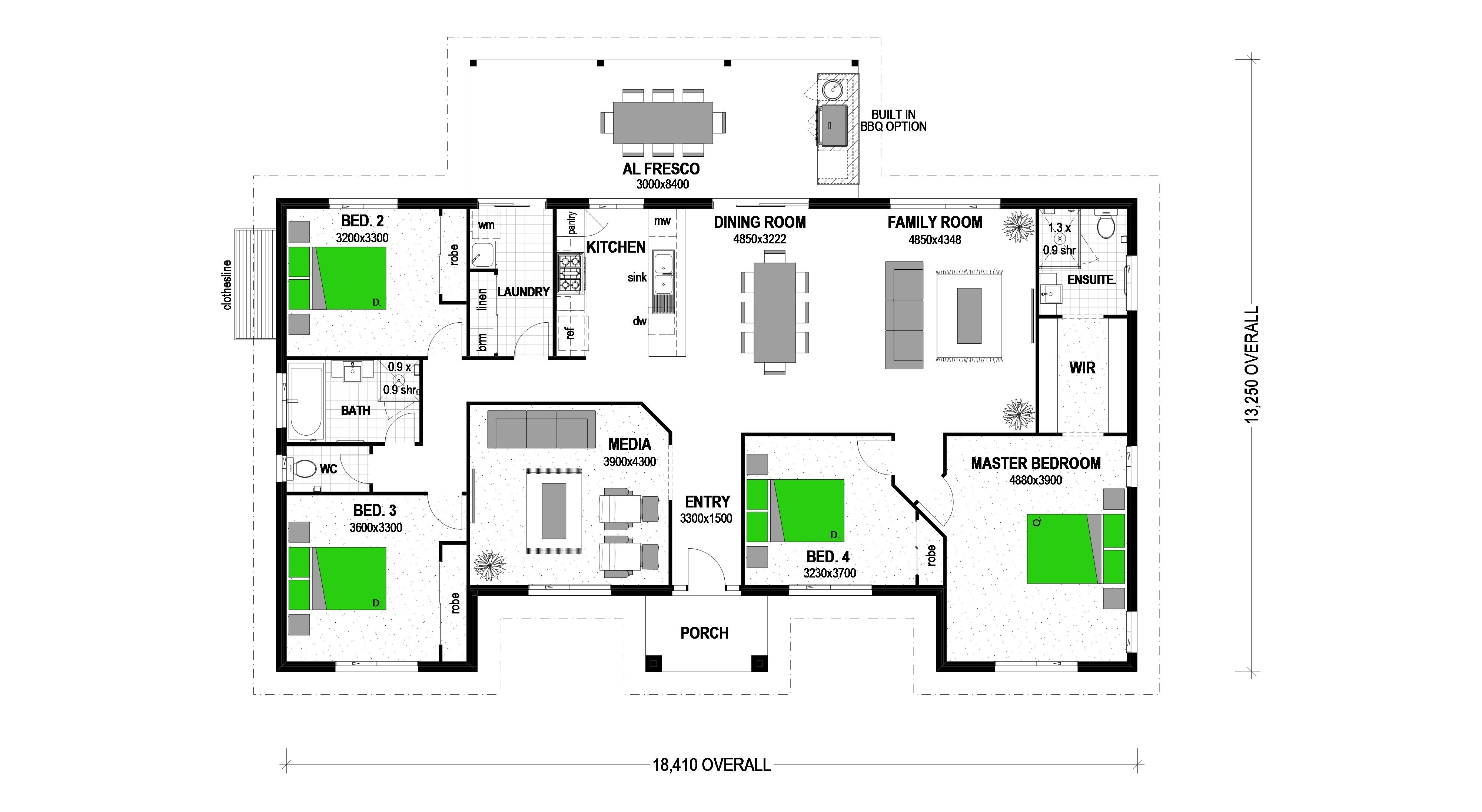 LOT 11 KINGFISHER COURT TINANA Floorplan
