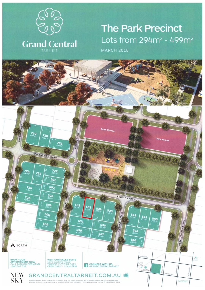 BIG DISCOUNT LAND SALE in Grand Central Estate Tarneit!!!
