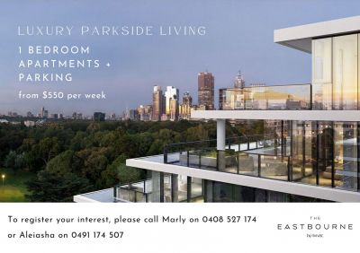 Sophisticated & Luxe 1 Bedroom Apartments in East Melbourne