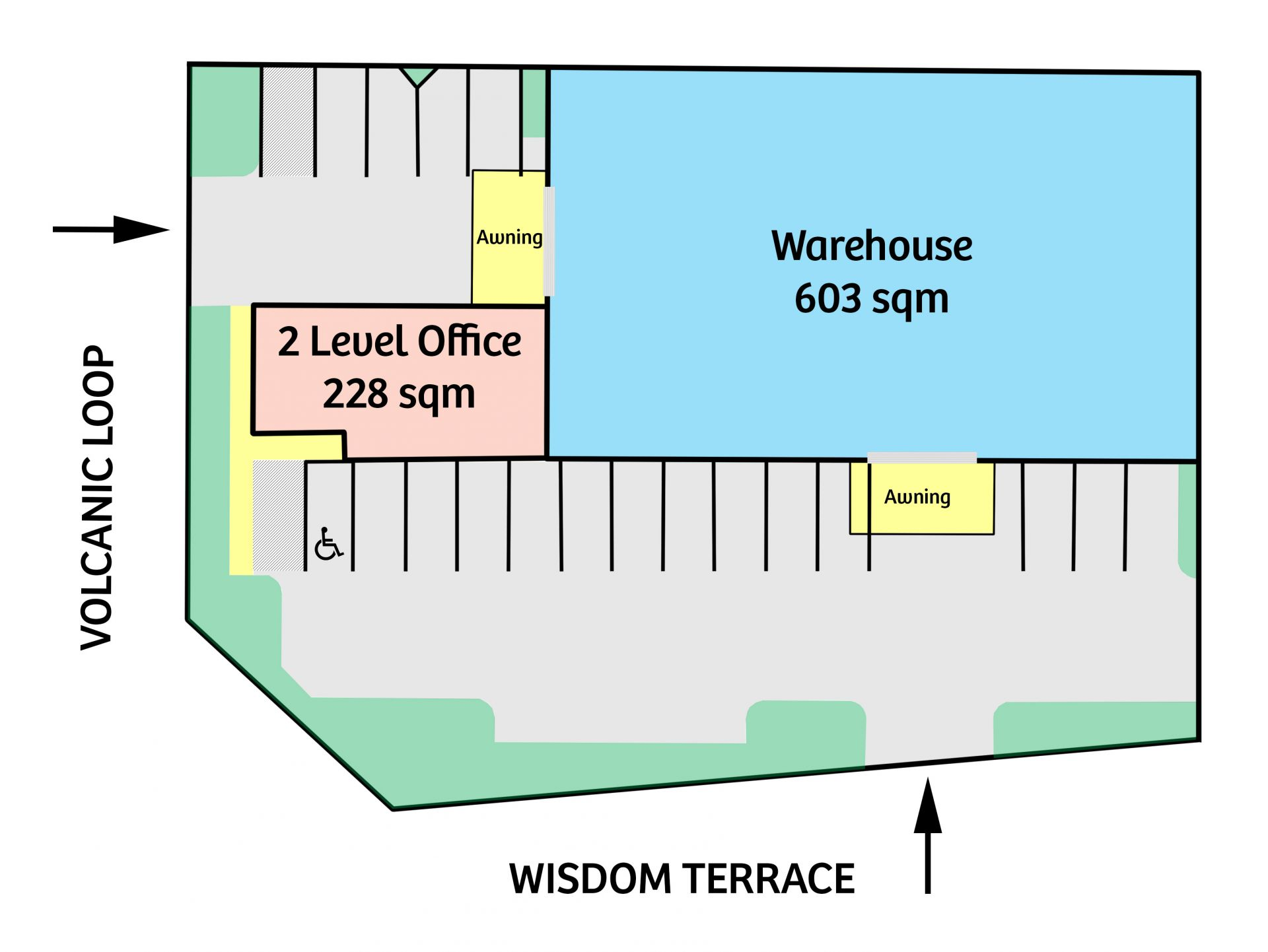 STAND ALONE OFFICE / WAREHOUSE – DUAL STREET ACCESS
