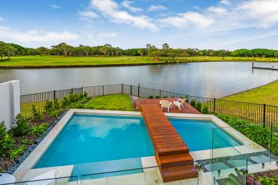Architect Designed, North Facing Waterfront Home Overlooking Golf Course