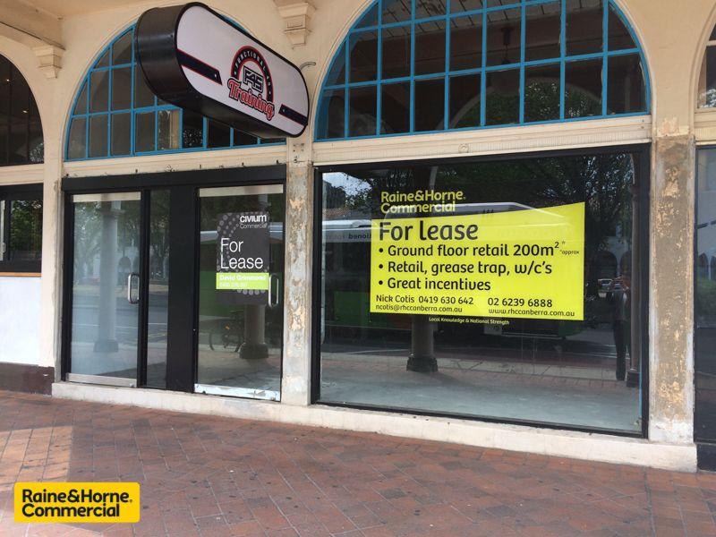 Ground floor Retail Canberra CBD.