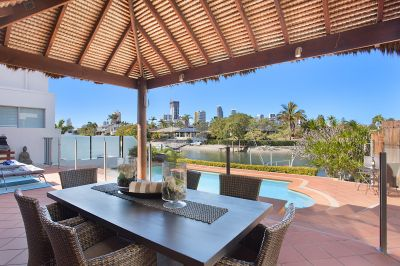 Broadbeach Waters waterfront residence with pool