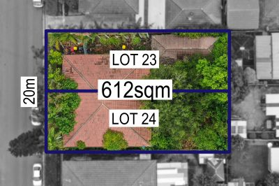 Extremely rare and versatile North facing development parcel of land with two lots