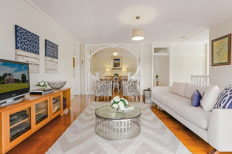 Chic dual level Queenslander with classic and modern appeal