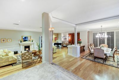 Stunning renovated home on elevated 1560m2 block with sweeping views on one of the highest points in Sanctuary Cove.