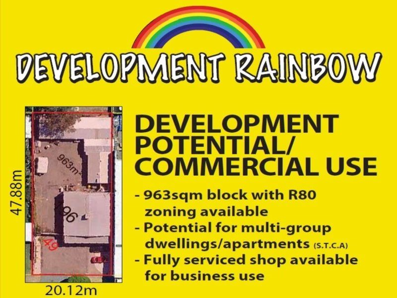 DEVELOPMENT POTENTIAL or COMMERCIAL USE