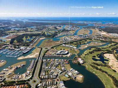 Huge 878m2 Waterfront Homesite in Coveted Hope Island Resort