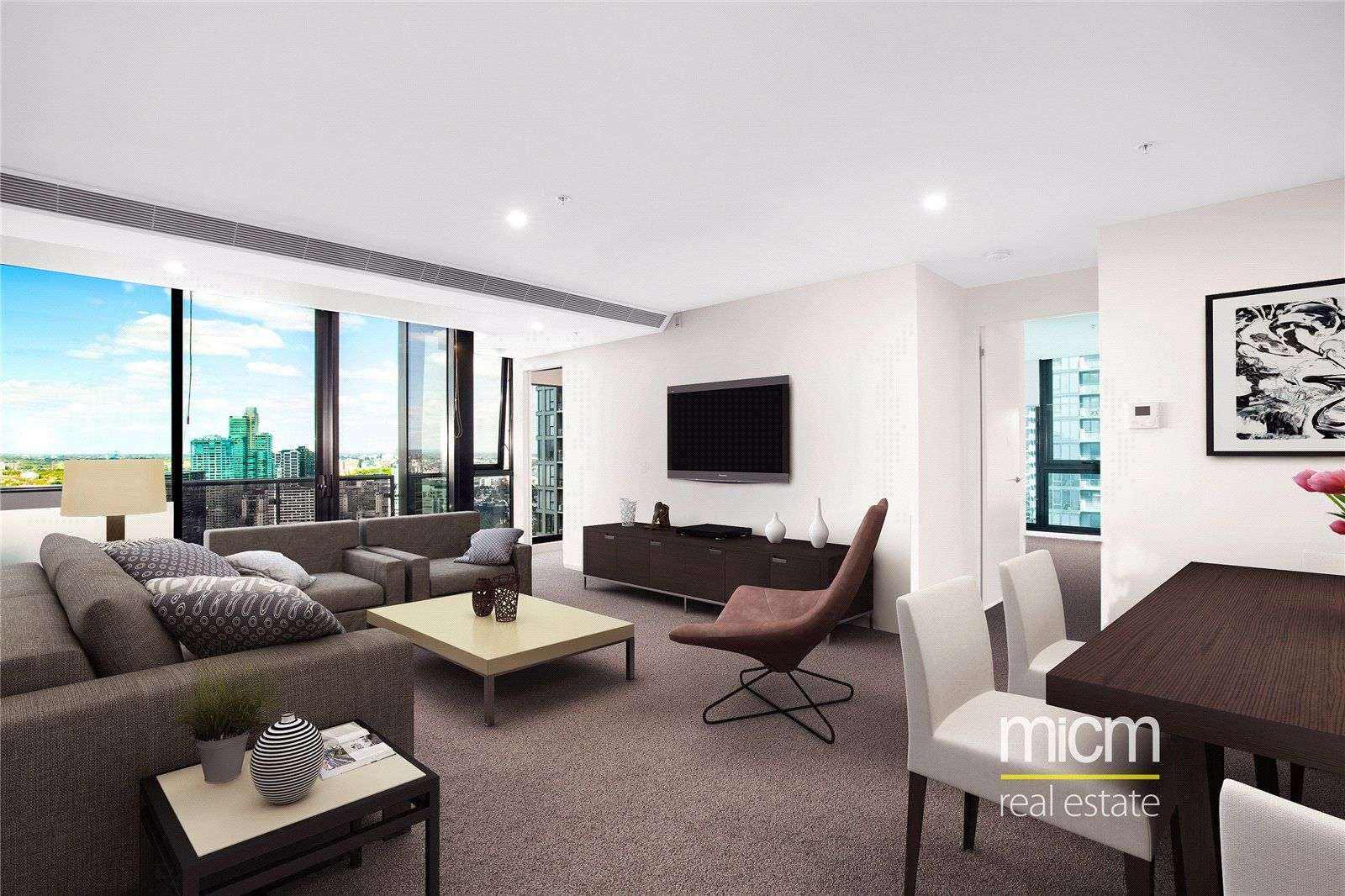 Southbank Grand: Spacious Two Bedroom Apartment with Carpark and Study Area!
