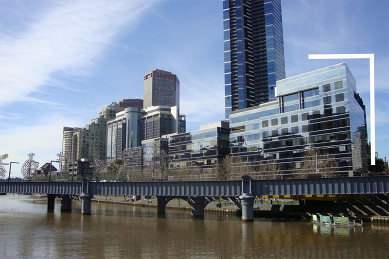 Enjoy Yarra River views from your 3-person private workspace at Riverside Quay, Southbank