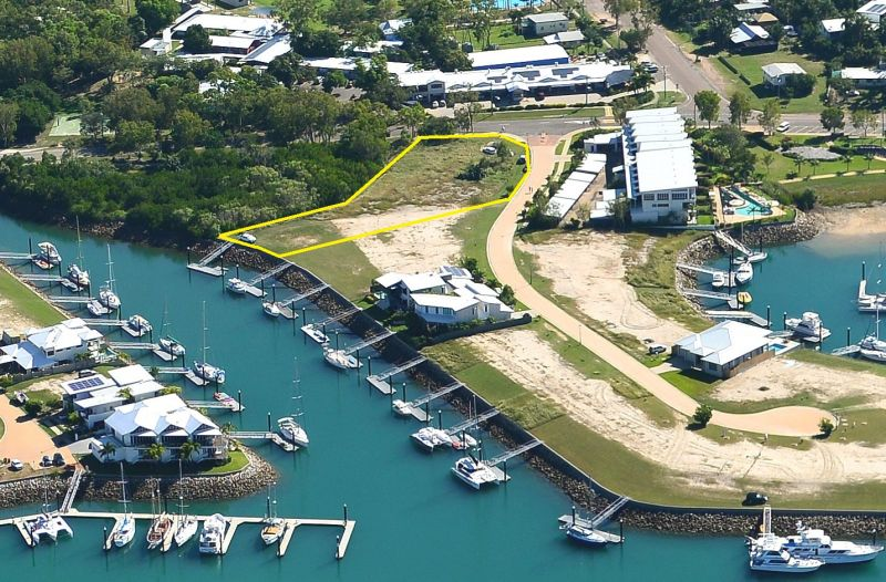 Waterfront sites with marina berth