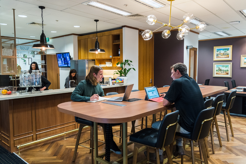 Collaborative 4-person workspace with views looking over Perth's stunning skyline