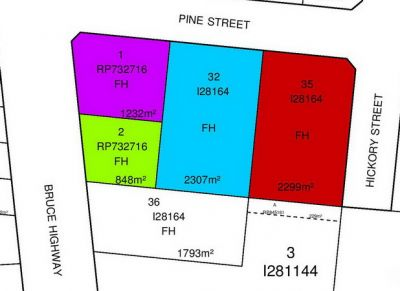 46-48, 50 Pine Street and 85 Palmerston Drive, Innisfail