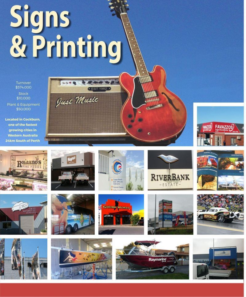 Signs, Print & Apparel in One Great Business - priced to sell! NOT TO BE MISSED!