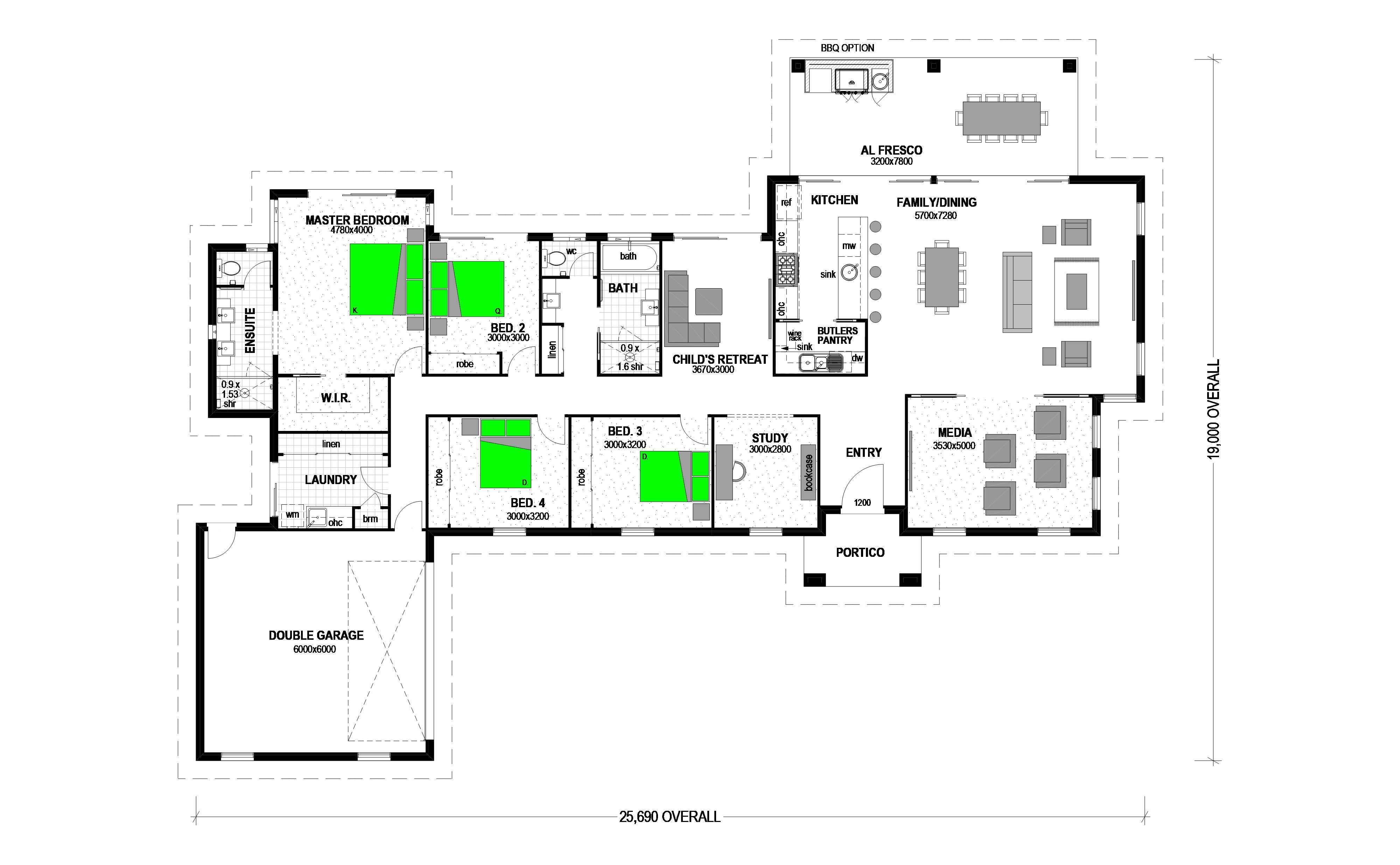 . . NGAHINAPOURI Floorplan