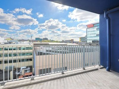 Modern unit located in a great central location with a large balcony.