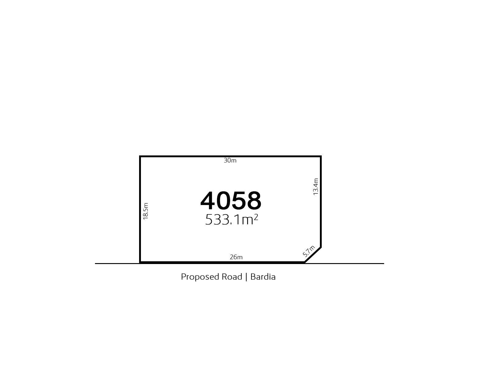 Bardia LOT 4058 Proposed Road | Bardia