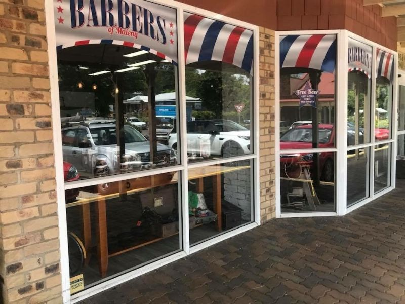 BARBERS OF MALENY.  MODERN RETRO SET-UP.  PRIME LOCATION (RIVERSIDE CENTRE)