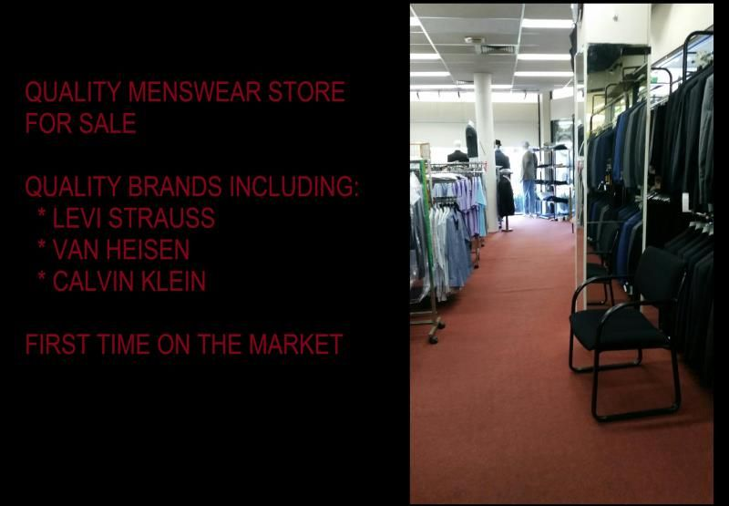 MENSWEAR AND TAILOR BUSINESS