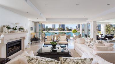 FOUR-LEVEL HOME SETS NEW BENCHMARKS FOR PRESTIGE RIVERFRONT LIVING