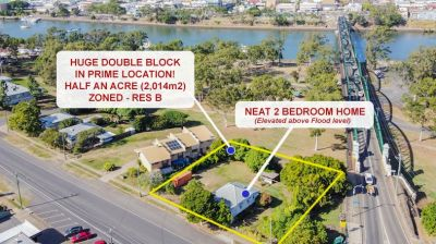 NEAT 2 BED HOME ON RES B DOUBLE BLOCK (HALF AN ACRE!) IN PRIME LOCATION!