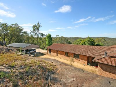sold by in conjunction real estate.   magnificent 60 acre retreat with very private 4 bedroom brick home plus very large trade-persons shed