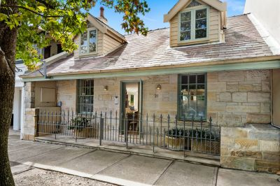 Delightfully Elegant Double Fronted Sandstone Cottage offers Sundrenched N/E Aspect + Prime Village & Parkside Location