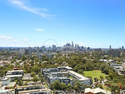 Sweeping City Views from Level 14, 2-Bedroom Apartment + Media in Zetland!