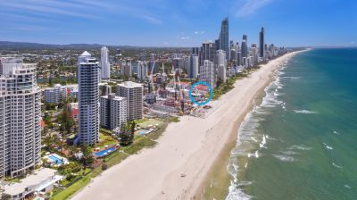 Absolute Beachfront 2 bed in Prime Redevelopment Site of only 21