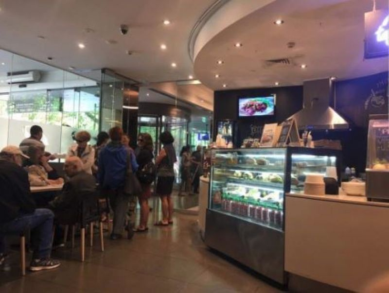 VERY BUSY Collins Street Location.