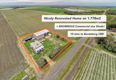 NICELY RENOVATED HOME + ENORMOUS COMMERCIAL SIZE SHEDS on 1,778m2