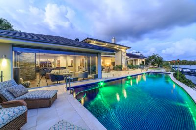 Luxury Single Level Home with 42m Waterfront