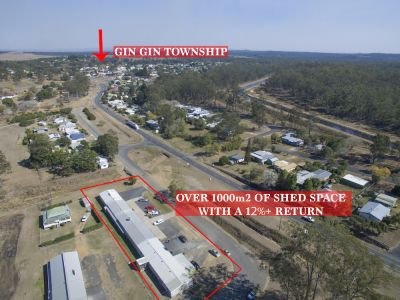 OVER 1,000M2 SHED ON 2618M2 BLOCK IN GIN GIN'S CBD WITH A 12%+ RETURN……BE QUICK!